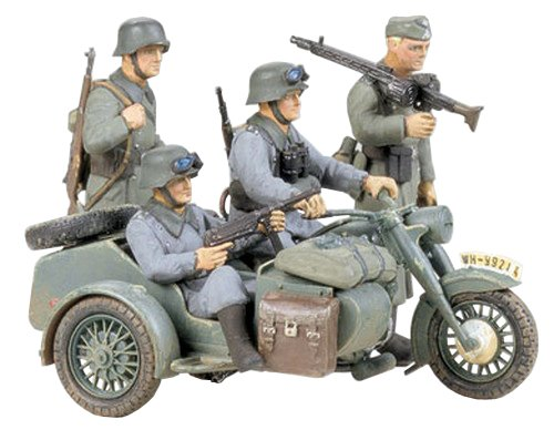 Tamiya  35016 1/35 German BMW R75 w/Car - 1