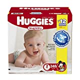 Huggies Snug & Dry Diapers, Size 2, 246 Count (One Month Supply)