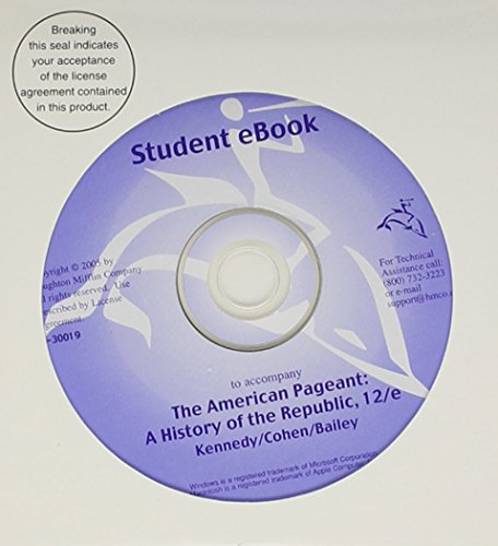 eBook CD-ROM for Kennedy/Cohen/Bailey's The American Pageant: A History of the Republic, 12th