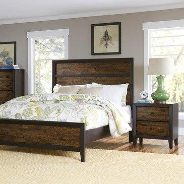 Homelegance Arcola 2 Piece Platform Bedroom Set in Espresso