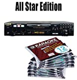 All Star Edition RSQ Karaoke Neo 22 FREE Music (150.00 Value) 10 Chartbuster Discs, 12 Song Custom, feat. Walt Disney and More! The 12 Song Custom Card has over 7000 songs to choose from!!! (That's over 130 Songs)