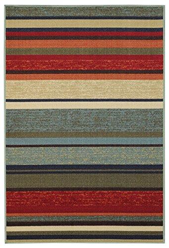 Rubber Back Multicolor Stripes Non-Slip (Non-Skid) Door Mat Rug 18
