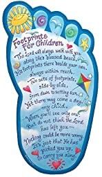 Abbey Press Footprints for Children Plaque - Inspiration Faith Blessing Spirit 31079-ABBEY