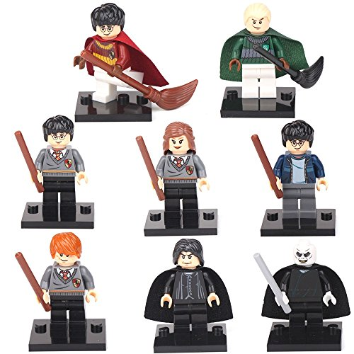 [Harry Potter Hermione Malfoy Ron Snape 8 Mini figures Building Bricks Toys LEGO] (Clue Group Halloween Costumes)