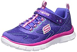 Skechers Girls\' Skech Appeal Hi Shine Sneaker,Purple/Neon Pink,US 12.5 M