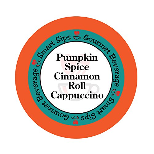 Smart Sips, Pumpkin Spice Cinnamon Roll Cappuccino, 24 Count, Compatible With All Keurig K-cup Brewers (Keurig Tim Hortons Hot Chocolate compare prices)