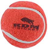 KDM Unisex Rubber Tennis/Cricket Ball Size 5 - Pack Of 6, Red