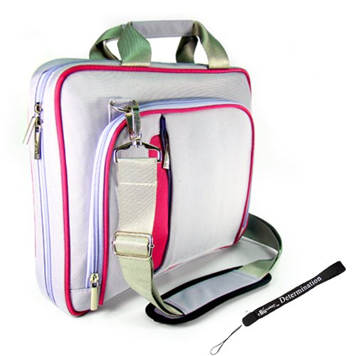 Purple and Pink Pin Carrying Case Optional Shoulder Strap For Sony DVP-FX930/R 9-Inch Portable DVD Player (Compaq Portable compare prices)