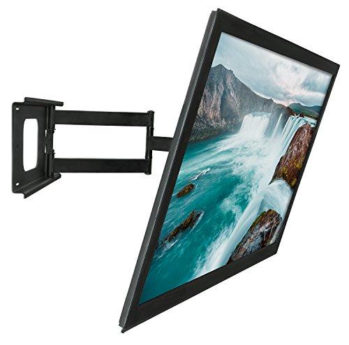 mount it mi 345 swivel full motion articulating tilting low profile tv wall mount corner. Black Bedroom Furniture Sets. Home Design Ideas