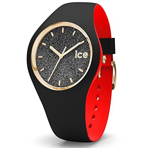 ICE-Watch - 007237 - Loulou Black Glitter - Montre Femme - Cadran Noir - Bracelet Silicone Noir