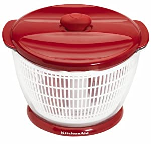 Kitchenaid Classic Plastic Salad Spinner, Red by Lifetime Brands