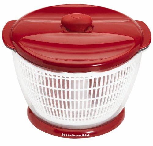 KitchenAid Plastic Salad Spinner (Red) (Kitchenaid Salad Spinner compare prices)