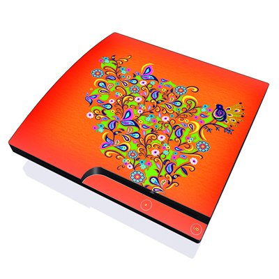 mygift-orange-squirt-design-skin-decal-sticker-for-the-playstation-3-ps3-slim-console