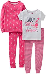 Carters Toddler 4-pc. Perfect Poodle Pajama Set Pink/white 2T