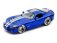 ダイキャストカー 2008 ダッジ バイパー SRT10 ブルー/ホワイトストライプ 1/24