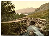 Photographic Print of Victorian Photochrom Derwentwater, Ashness Bridge and Skiddaw, Lake District, England