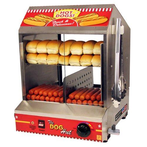 The Dog Hut Hotdog Steamer and Merchandiser (Bun Warmer Hot Dog compare prices)