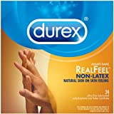 Durex Avanti Bare Real Feel Polyisoprene Non Latex Lubricated Condoms, 24 Count