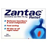 Zantac Relief 75mg 6x12tablets