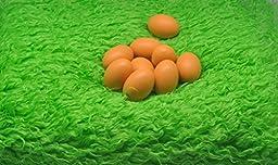 Newborn Baby photography photo props Faux wool Basket Stuffer blanket rug green