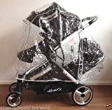 New HAUCK Official Raincover rain cover for Duett tandem double twin pushchair