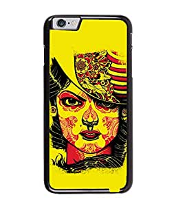 Fuson Yellow Face Pattern Back Case Cover for APPLE IPHONE 6 PLUS - D3910