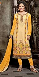 Heavy Embroidery Georgette Dress Material