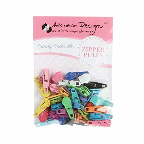 Read About Atkinson Zipper Pulls Candy Color Mix 30+ Assorted Colors