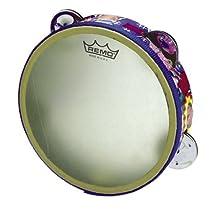 Remo RHYTHM CLUB Tambourine 1.75 x 6 4 Sets Jingles Rhythm Kids Graphics