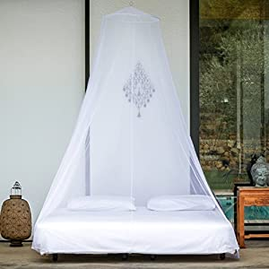 EVEN Naturals® Mosquito Net | Double Bed Conical Curtains | Fly Screen Netting | Insect Malaria Zika Repellent | Money-back Guarantee | Free Carry Pouch, Hanging Kit & eBook | Home & Travel