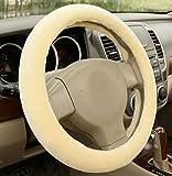 Ewin24 1PCS Accessoires automobiles hiver braquage de voiture en peluche enjoliveur laine imitation plaque de voiture mis les produits de l'automobile de direction...