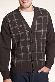 Blue Harbour Pure Lambswool V-Neck Check Cardigan [T30-2540B-S]