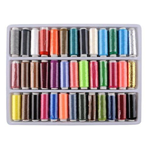trixes-lot-de-39-fils-a-coudre-en-polyester-aux-couleurs-variees