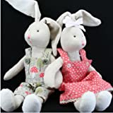 Gisela Graham Fabric Bunny Rabbit Soft Toy (Boy)