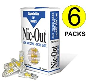 Nic-Out Cigarette Filters 6 Pack