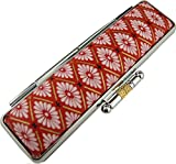 印鑑ケース 12ミリまで 京都和柄 赤  かわいいはんこケース 表面材質特殊紙使用