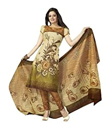FastColors Women Salwar Suit Dupatta Cotton Dress Material(sgh 808_FO_Beige)
