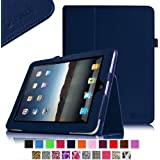 Fintie iPad 1 Folio Case - Slim Fit Vegan Leather Stand Cover with Stylus Holder for Apple iPad 1 1st Generation - Navy