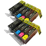 10 CiberDirect Compatible Ink Cartridges for use with Canon Pixma MX885 Printers.