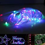 LE� 16.5ft LED RGB Solar Rope Lights,...