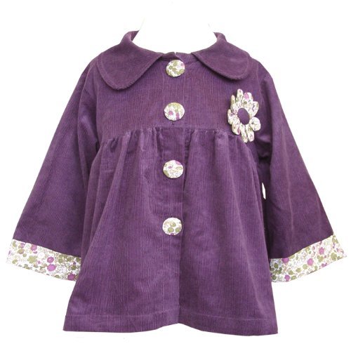 Powell Craft Purple Corduroy Girls Coat