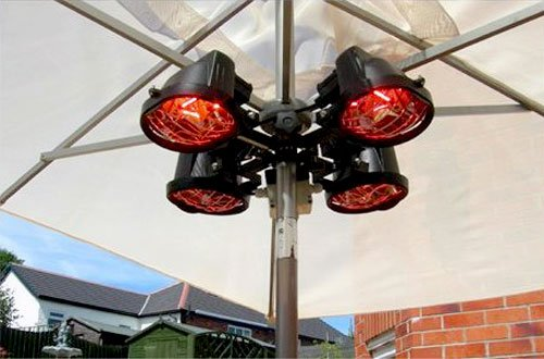 2000W 4-WAY Electric Infrared Outdoor Garden Patio Parasol Heater