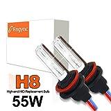 Engync 55W H8 HIDバルブ Hi/Low 10000K セラミックコア交換用キセノン電球