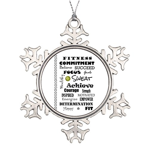 Bellous Decoration Tree Motivational and Inspirational Fitness Typography Personalized Snowflake Ornament