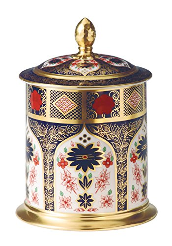 Royal Crown Derby, 50 ml, barattolo in oro, banda Imari