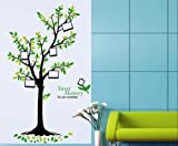 Instylewall Home Decor Mural Vinyl Wall Sticker Sweet Memory Picture Tree Green Kids Nursery Room Wall Art Decal Paper