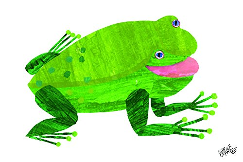 Marmont Hill Eric Carle's Brown Bear Green Frog Canvas Wall Art, 18 by 12-Inch