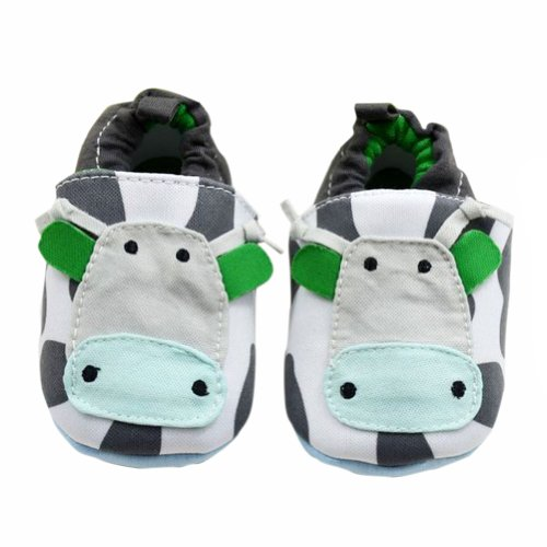 Boy Fuax Leather Crib Shoes Soft Sole Velcro Sport Sneakers M