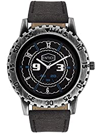 Entice Antique Collection Black Round Dial Analog Wrist Watch For Men