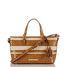 Mini Asher Tote<br>Whiskey Raffia